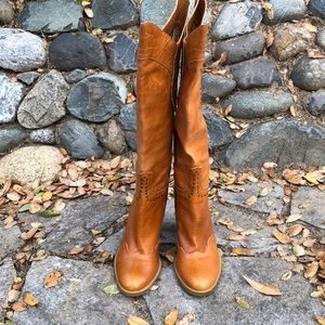 Steve madden high-heeled western style town boots